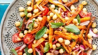 Kikertsalat med gulrot