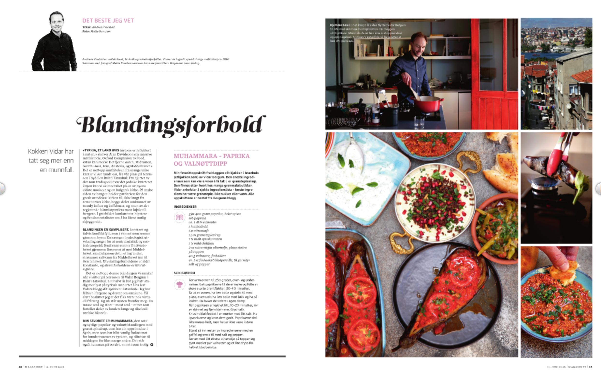 Blandingsforhold - Dagbladet Magasinet / Et kjøkken i Istanbul