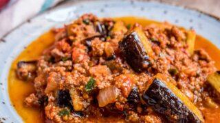 Tyrkisk moussaka (Patlıcan musakka)