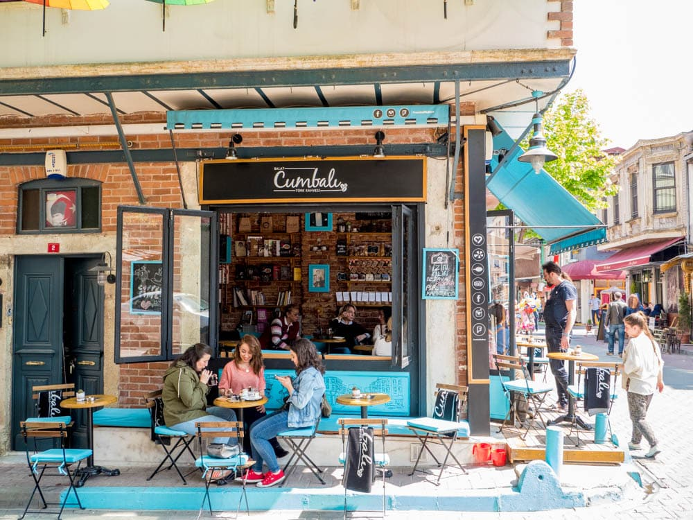 Cumbali kafe i Balat, Istanbul