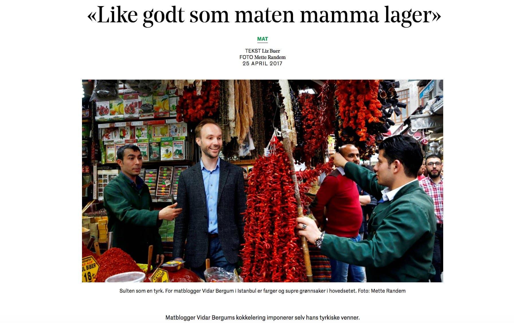 """""""Like godt som maten mamma lager"""" - Dagens Næringsliv Smak / Et kjøkken i Istanbul"""
