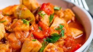 Tyrkisk kyllinggryte med paprika (Tavuk sote)