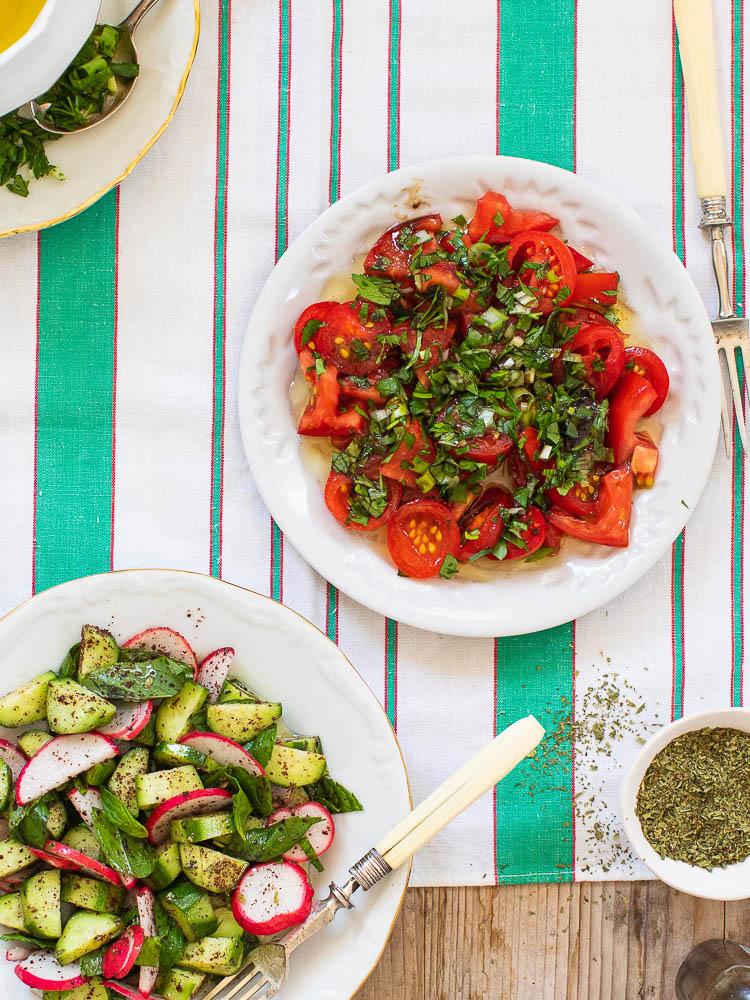 Tomatsalat med friske urter