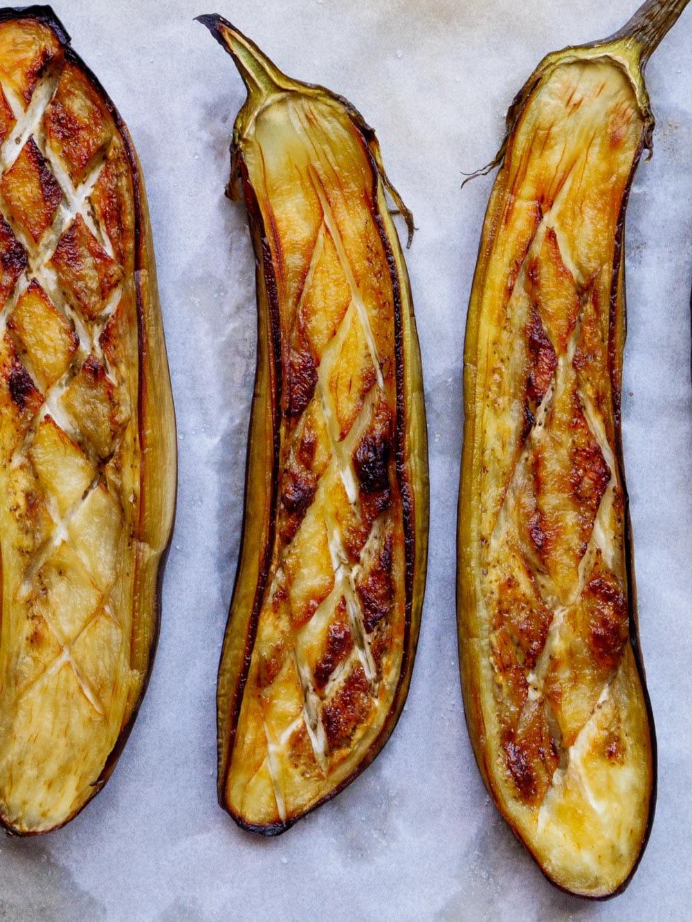 Ovnsbakt aubergine – oppskrift / Et kjøkken i Istanbul