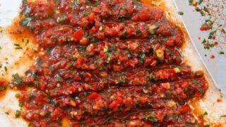 Spicy dippsalat (Acili ezme)