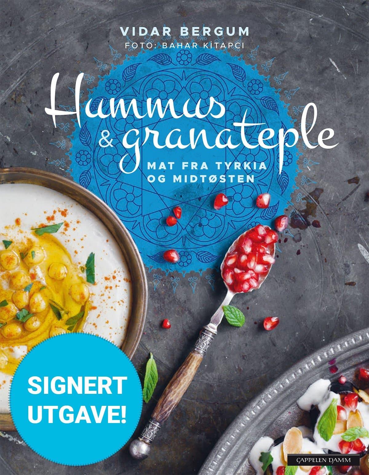 Hummus & granateple av Vidar Bergum – signert utgave