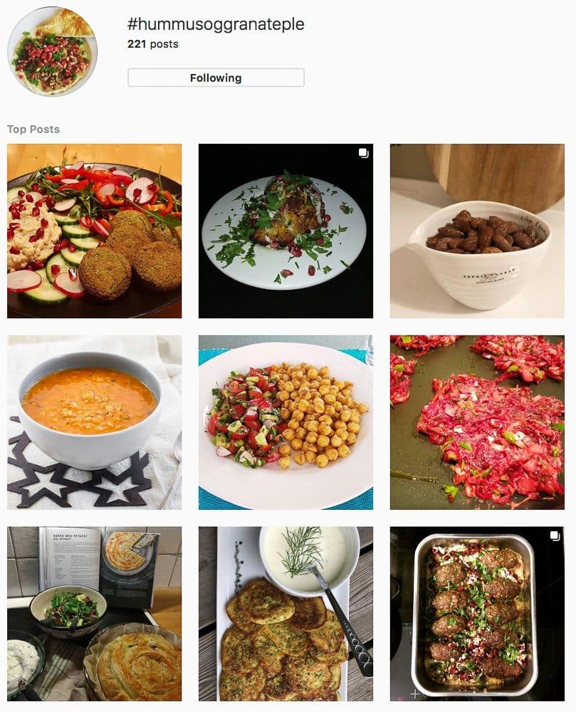Bilder fra #hummusoggranateple på Instagram