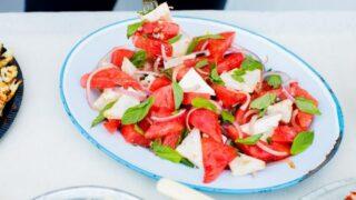 Vannmelon- og fetaostsalat