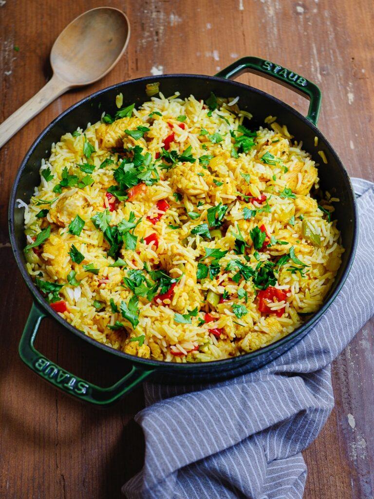 Ris med kylling og paprika