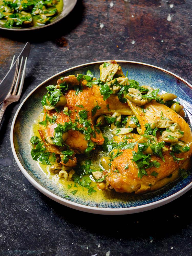 Kylling med olivensalsa