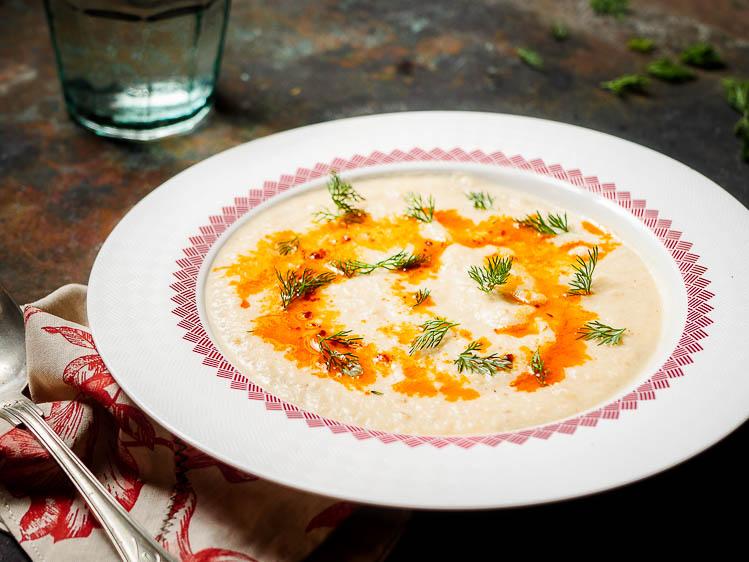 Blomkålsuppe med spisskummen