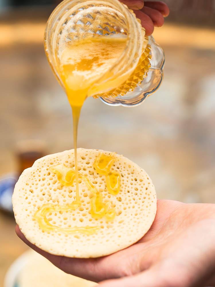 Marokkanske pannekaker med honningsmør