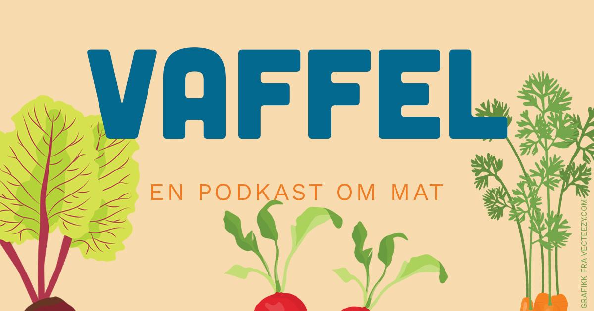 Logo for Vaffel - en podkast om mat