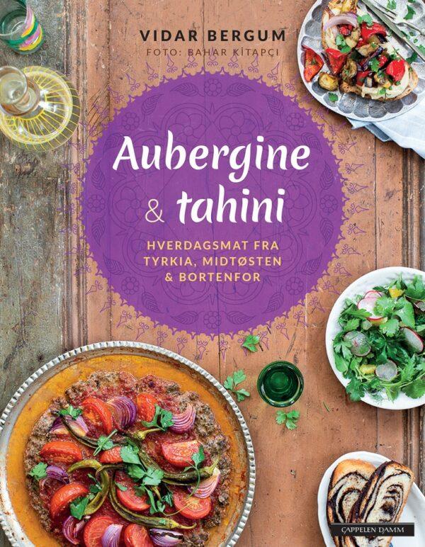 Omslag for Aubergine og tahini av Vidar Bergum