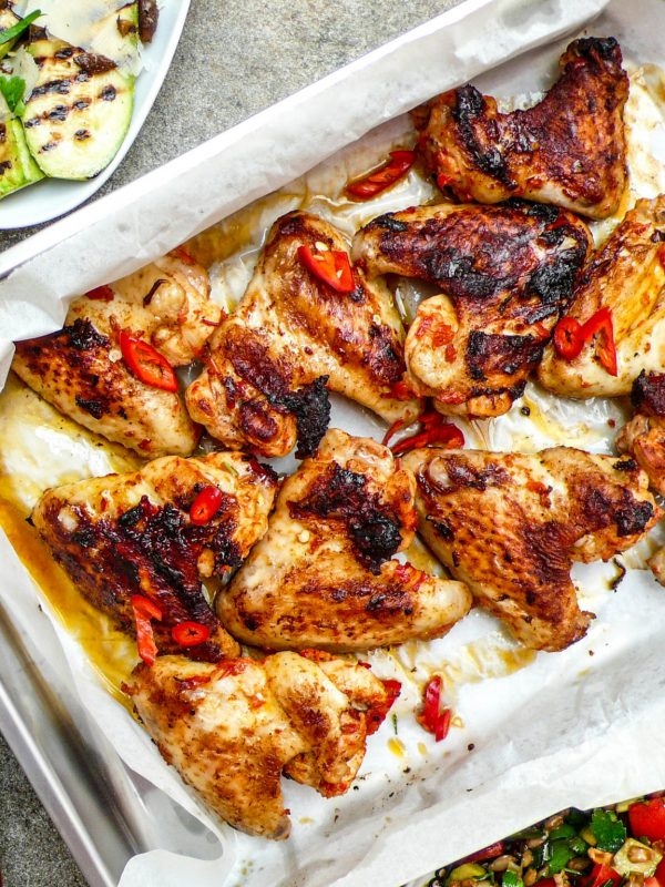 Harissamarinerte kyllingvinger