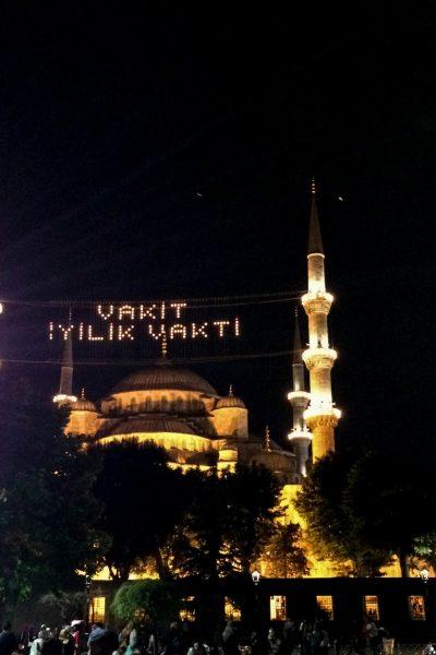 Sultanahmetmoskeen under Ramadan