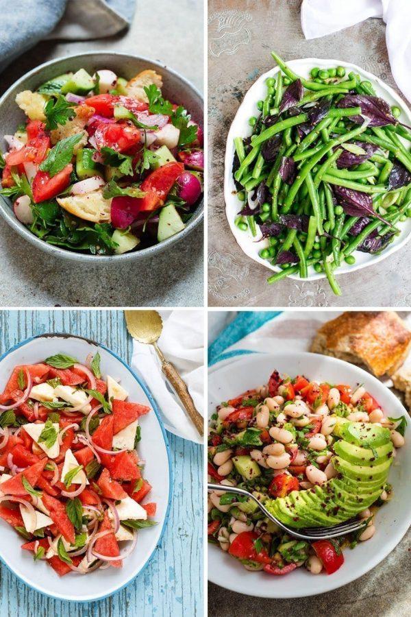 Utvalg av fire salater